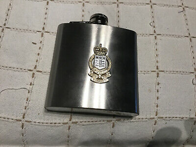 Stainless Steel Hip Flask Royal Army Ordnance Corps  RAOC • 5£