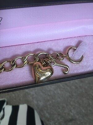Juicy Couture Charm Bracelet Gold Chain In Its Original Box • 22£