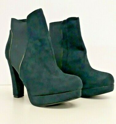 Ex Red Herring Teal Faux Suede Boots • 10£