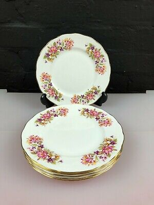 6 X Colclough Wayside Honeysuckle Salad Plates 8.25  Wide 3 Sets Available  • 25.99£