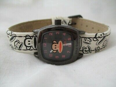 Paul Frank Watch Black & White Square Shaped Face Monkey Themed WORKING! • 58.02£