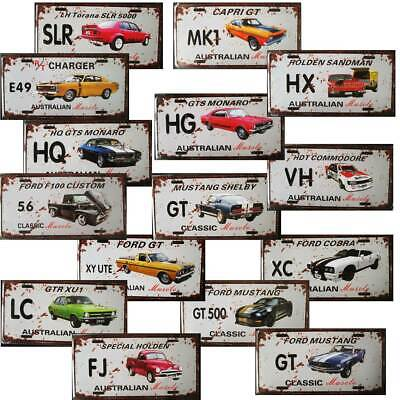 AU14.95 • Buy Car Tin Signs Ford Holden Aussie Muscle License Plate Gift Bar Man Cave Shed