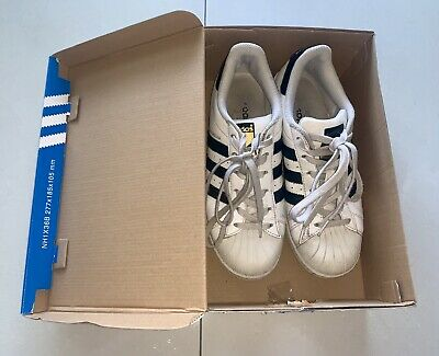 AU10 • Buy 👟Adidas Superstar Original Sneakers White Shoes Size US5
