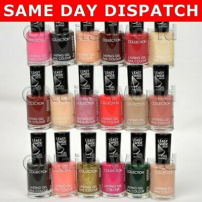 Collection® 2000 Lasting Gel Nail Polish Varnish Beige Pink Black Red Nude Green • 3.99£