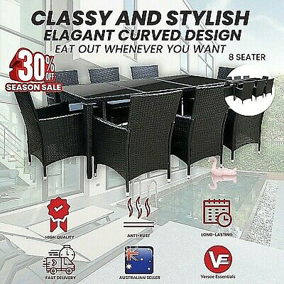AU699.95 • Buy Gardeon Outdoor Furniture 7/9pcs Dining Set Table & Chair Outdoor Dinner Setting