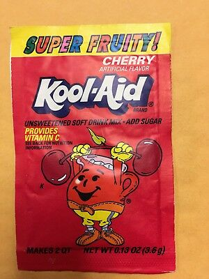 Vintage Kool-Aid Packet--Super Fruity Cherry--Sealed--Collectible • 20.73£