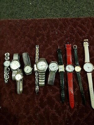 $ CDN28.22 • Buy Lot Of 10 Mixed Watches All Untested Include Seiko