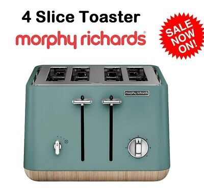 AU94.90 • Buy Morphy Richards 4 Slice Toaster Machine Bread Toasting Removable Crumb Tray NEW