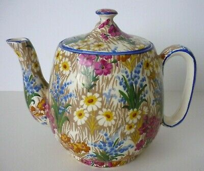 "$ CDN49.56 • Buy 1930s CHINTZ ROYAL WINTON GRIMWADES SMALL TEAPOT ""MARGUERITE"" PATTERN"