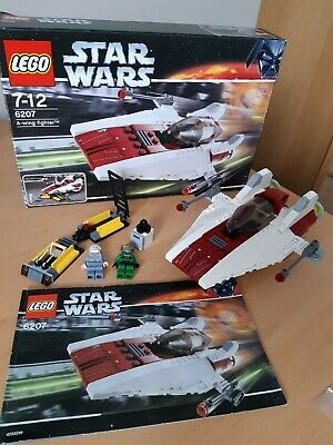 Star Wars Lego 6207 Set A-Wing Fighter Minifigures Box Instructions  • 23£