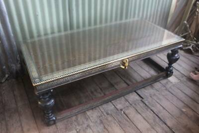 AU495 • Buy A Large 157cm Egyptian Glass Top Coffee Table