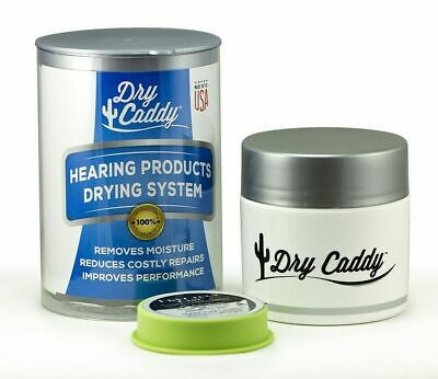 £13.75 • Buy Dry Caddy Dehumidifer Kit For Hearing Aids Includes 1 Year Supply (6) Dry Discs