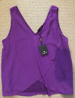 AU30 • Buy Massimo Dutti Purple Blouse V Neck Top Tank Size Medium New With Tags