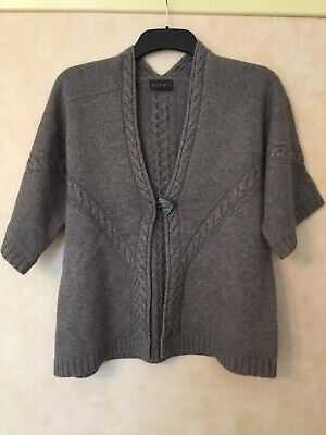 Alex & Co Brown Cardigan Top Size 14 • 3.90£
