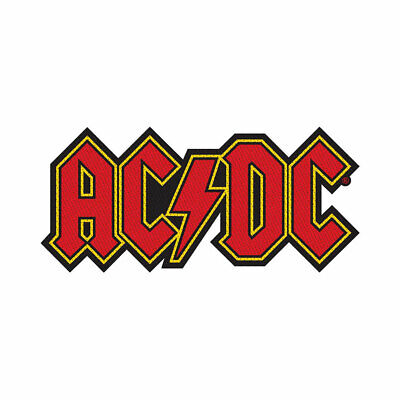 £3.99 • Buy Ac/dc Red Logo Cut Out Official Licensed Sew On Patch Rock Band Badge New