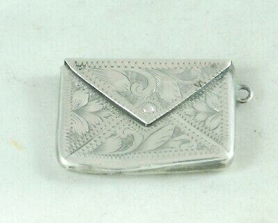 Edwardian Silver Chatelaine Silver Stamp Case WHL Birmingham 1906 BZX • 50£
