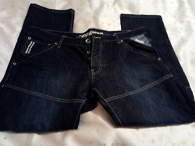 New Ze'Enzo 989 Mens Blue Button Fly Jeans Size 40R • 25£