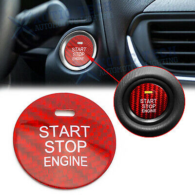 $ CDN22.95 • Buy Red Real Carbon Fiber Keyless Engine Push Start Button For Mazda 3 6 CX-3 CX-5
