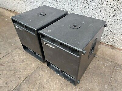 """Pair Of FBT Design Sub Cabs With Eminence Kappa-LFA 15"""" Drivers & Low-pass Filte • 440£"""