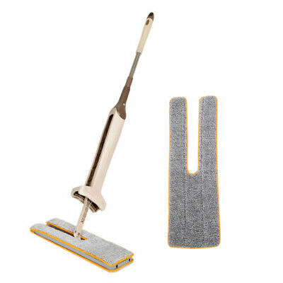 Home Double-sided Squeegee Cleaning Cloth Head Floor Ceramic Tile Flat Mop UK • 4.46£