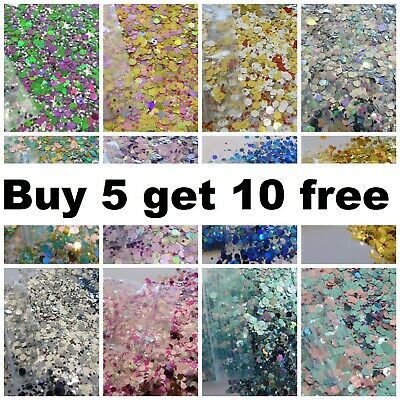 CHUNKY Festival Glitter 2g Face Eye Body Hair Tattoo Cosmetic BUY 5 GET 10 FREE • 0.99£