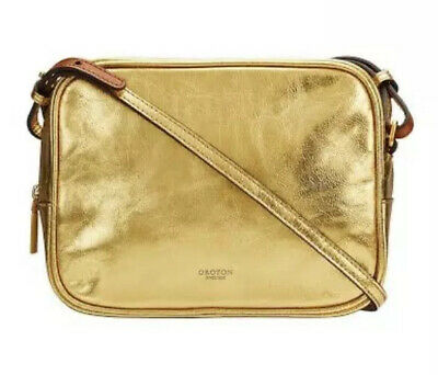 AU49 • Buy Oroton GOLD Escape Cross Body Bag Crossbody - With Bag Charm Scarf