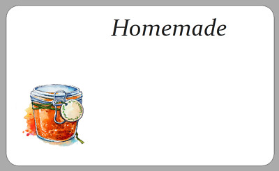 £2.50 • Buy Homemade Preserves Chutney Stickers Jam Pot Jar Labels Space For Own Writing