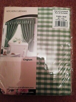 £14 • Buy New Gingham Check Curtains 42  Long X 46  Wide