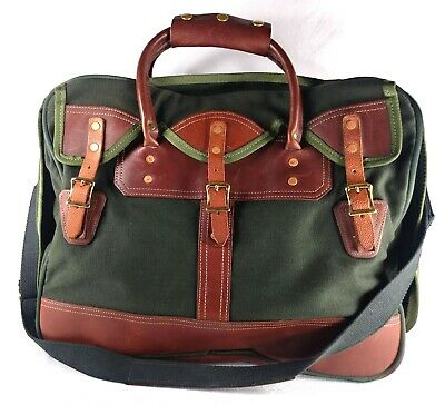 $ CDN235.79 • Buy CANVAS BACK DRY GOODS By JW HULME Canvas Leather Overnight Hunting Luggage Bag
