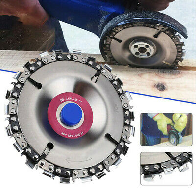 4'' Angle Grinder Disc 22 Tooth Chain Saw Blade For Wood Carving Cutting Tool NW • 9.98£