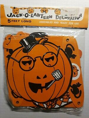 $ CDN50.86 • Buy Vintage Die-cut Halloween Decoration Jointed Jack O Lanterns Made In Japan New