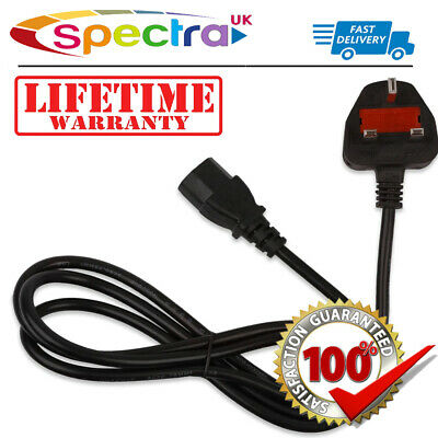 LG 32LX2R 32  Inch LED LCD TV Television Power Cable Lead Cord UK Mains • 9.99£