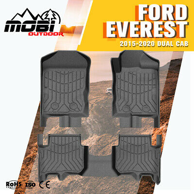 AU149 • Buy 3D Floor Mats TPE Liner KIWI MASTER Fit Ford EVEREST 2015-Current Durable
