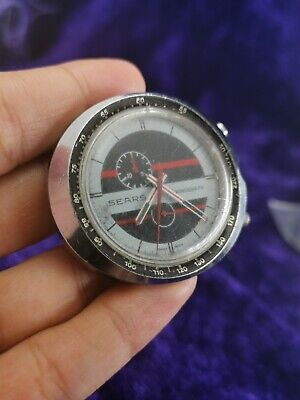 $ CDN365.86 • Buy VINTAGE SEARS EASY-RIDER CHRONOGRAPH  BY HEUER 45mm WATCH 1970's FOR PARTS AS IS