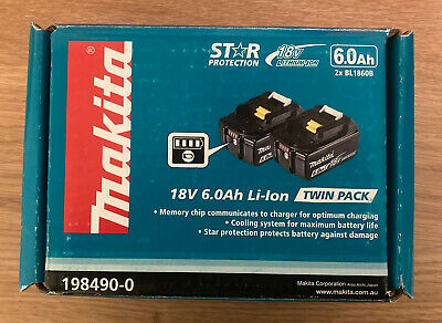 AU115.50 • Buy Makita 18V 6.0Ah Li-ion Power Tool Battery - Twin Pack