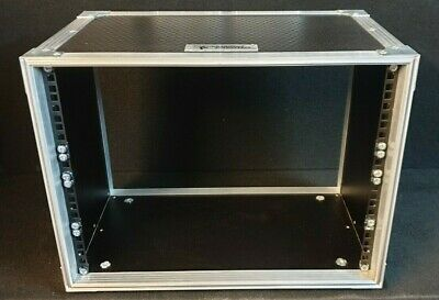 8U 19  Rack Sleeve Swan Flight Case For Studio Install (Hex) 300mm Depth  • 80£
