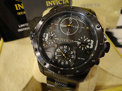 Invicta 31143 50mm Coalition Force Special Ops Quad Time Gunmetal Bracelet Watch • 79.51£