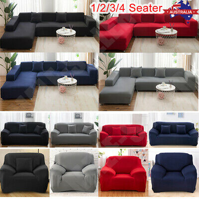 AU20.40 • Buy 1-4 Seater Stretch Sofa Cover Couch Lounge Recliner Armchair Slipcover Protector