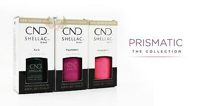 AU52.03 • Buy CND Shellac UV Gel Polish .25 Oz - PRISMATIC THE COLLECTION 2019 - FULL 3PCS