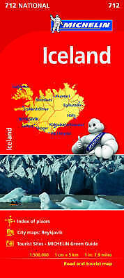 Michelin Iceland Map 750 (Michelin Map) Michelin Travel & Lifestyle Good Book • 7.57£