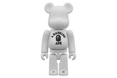 $69.99 • Buy A Bathing APE BAPE 100% Bearbrick Be@rbrick Medicom Toy White Rare Limited USED
