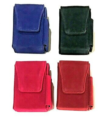 Super King Cigarette Pouch And Lighter Holder 4 Colours NEW SUEDE EFFECT • 6.99£