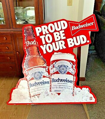 $ CDN94.96 • Buy Vintage Metal Budweiser Sign,  Proud To Be Your Bud,  29  X 28 , Good Condition!