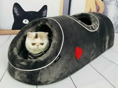 Pet Bed Cushion Tunnel For Cat Rabbit Dog & Small Pets • 43.46£