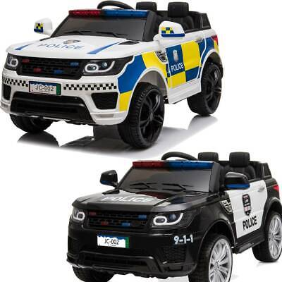 Kids Electric 12v Ride On Battery Police Suv Car With Parental Remote Control Uk • 139.95£