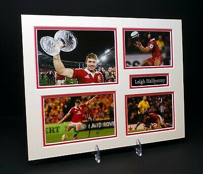 £69.99 • Buy Leigh HALFPENNY Signed Mounted Photo Display 2 AFTAL RD COA Wales Welsh Rugby