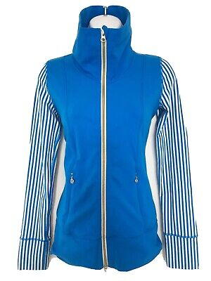 $ CDN47 • Buy Free Shipping Lululemon Daily Practice Yoga Jacket Full Zip Sz 10 Blue Stripe