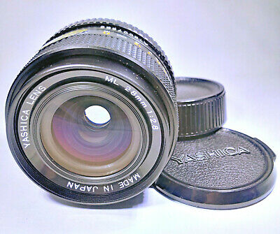 Yashica ML 28mm F/2.8 Fast Wide Angle Prime Lens ⌀52 - C/Y Mount • 64.99£