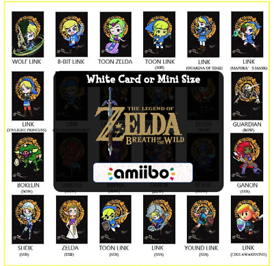 AU6.24 • Buy ANY Zelda Custom Mini NFC Amiibo Cards - Breath Of The Wild|The Legend Of Zelda
