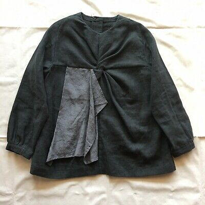 $99 • Buy NWT Cosmic Wonder - Linen Flannel Top/ Pullover Blouse In Gray S/M $445